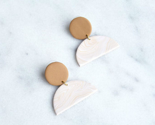 earring made from clay