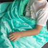 green weighted blanket