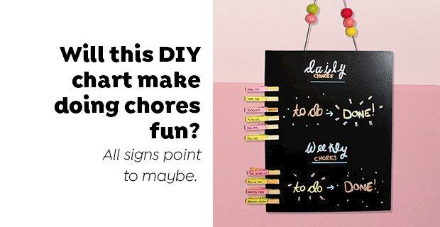 Will this DIY chart make doing chores fun?