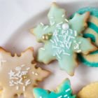 Lemon-Glazed Snowflake Cookies