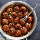 Apricot, Sriracha And Ginger-Glazed Meatballs