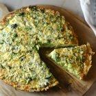 Broccolini Frittata with Crispy Potato Crust