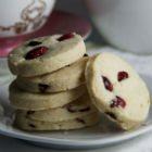 Gluten-Free Cranberry Shortbread Cookies