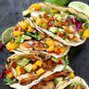 fish taco with mango salsa