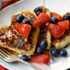 French toast in the shape of hearts