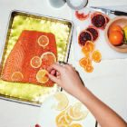 Slow Salmon with Citrus and Herb Salad