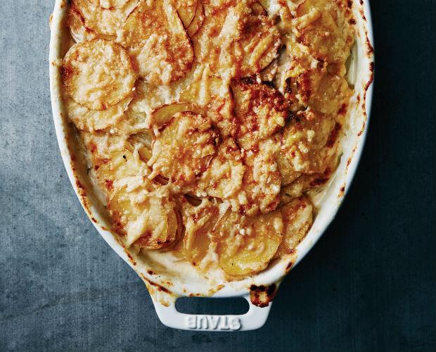casserole of scalloped potatoes