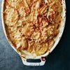 casserole of scalloped potatoes