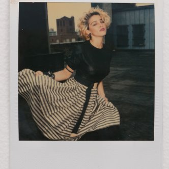 Vintage Polaroid photo of Madonna