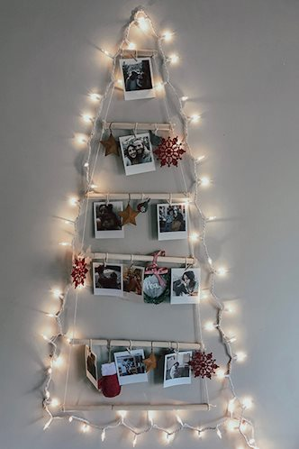 Polaroid DIY Light Up Christmas Tree with Photo Ornaments