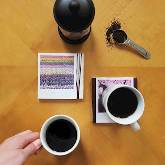 DIY Polaroid Photo Coasters