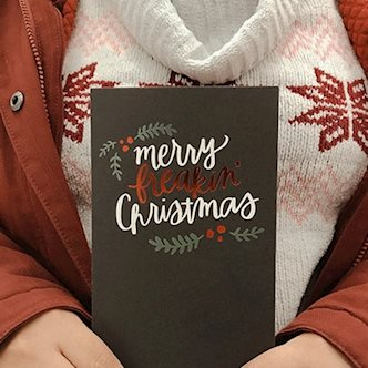 Polaroid Family Holiday Cards