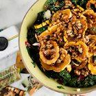Bowl of fall themed food next to Polaroid Snap and Polaroid photos