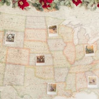DIY Polaroid Memories Map