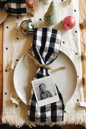 Polaroid DIY Table Place Setting