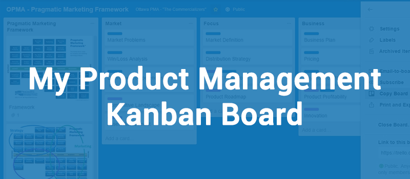 My Product Management Kanban Board