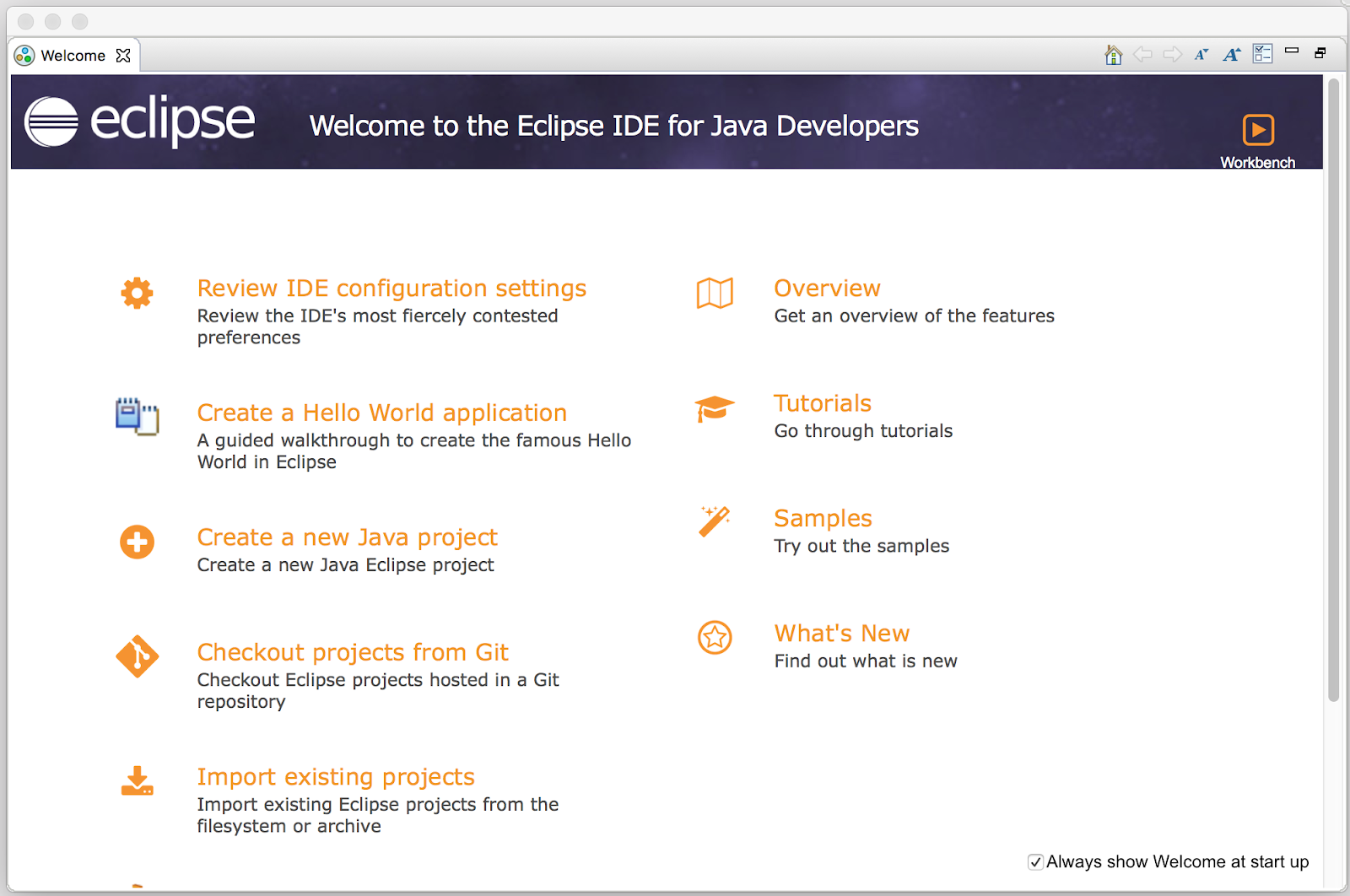 Eclipse Java new project