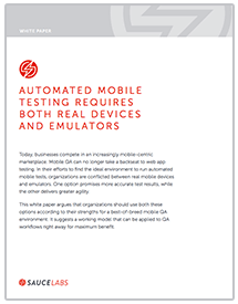 Real Devices and Emulators White Paper