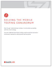 Solving the Mobile Testing Conundrum