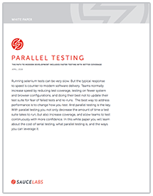Parallel Testing WhitePaper