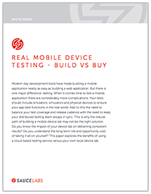 Real Mobile Device Testing
