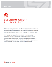 Selenium Grid - Build v. Buy