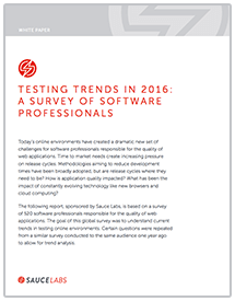 Testing Trends 2016