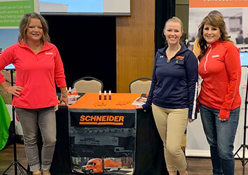 Attending college career fairs is one way the Corporate Recruiting team attracts young professionals to Schneider.