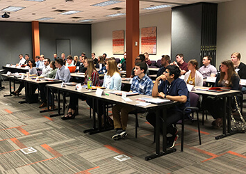 Attending onboarding is one thing all Schneider interns do on their first day.