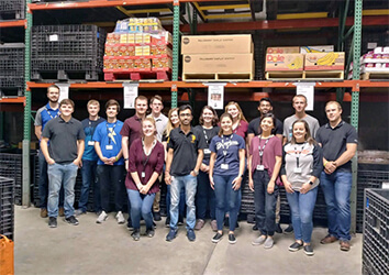 Schneider interns have the opportunity to volunteer during their internship.
