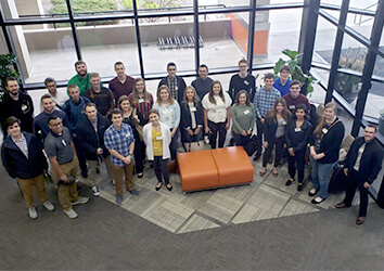 College students ready themselves for their first days of their summer internships at Schneider.