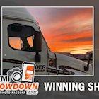2020 Semi Showdown truck photo contest winning sunset photo