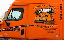 Schneider's 25,000th Freightliner