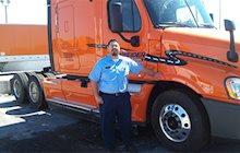 JR Rodriguez and Schneider Truck