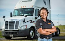 Schneider Dedicated driver Keisha Orange
