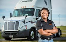 Schneider Dedicated driver Keisha Orange