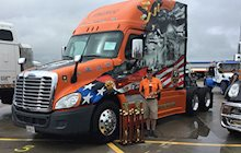 Ride of Pride truck with awards