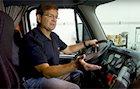 Tom DiSalvi in truck