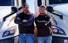Mike Schoenhofer and Cameron Haaga are father and son drivers on the same Dedicated account who challenge each other every day to do better at their jobs.