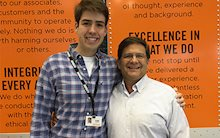Tom DiSalvi, Schneider's Vice President of Safety and Loss Prevention, and Thomas DiSalvi, a Paralegal Intern at Schneider