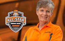 Schneider Over-the-Road driver Fay Dunn has driven over 1.5 million miles and is considered an All-Star.