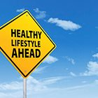 Healthy Lifestyle Ahead Sign