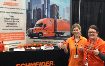 Schneider at Career Fair
