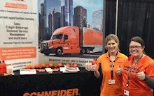 Schneider at Career Fair