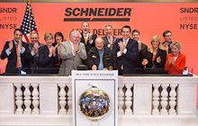 Schneider Driver Bob Wyatt Ringing NYSE Bell