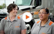 Schneider drivers Lisa and Patrice