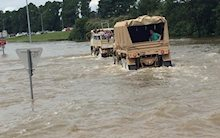 Truck in Louisiana Flood