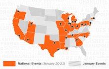 Map of Schneider Hiring Events