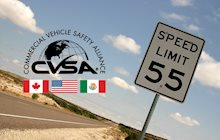 CVSA Operation Safe Driver Week 2020 speed limit sign
