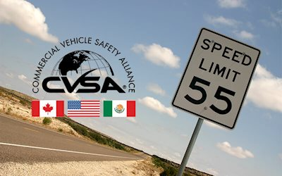 CVSA Operation Safe Driver Week 2020 speed limit sign
